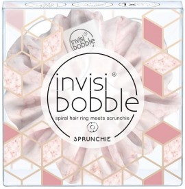Invisibobble Sprunchie My Precious Marblelous Natural Light Pink, 1 Τεμάχιο