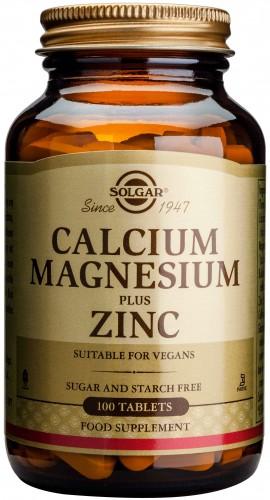 Solgar Calcium Magnesium Plus Zinc, 100 Ταμπλέτες