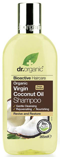 Dr. Organic Coconut Oil Shampoo, 265ml