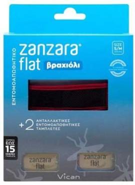 Vican Zanzara Βραχίολι Κόκκινο Με Δύο Εντομοαπωθητικές Ταμπλέτες S/M