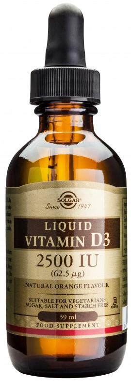 Solgar Vitamin D3 2500IU, 59ml