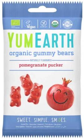 Yumearth Organic Gummy Bears Βιολογικά Ζελεδάκια Aπό Ρόδι, 50gr