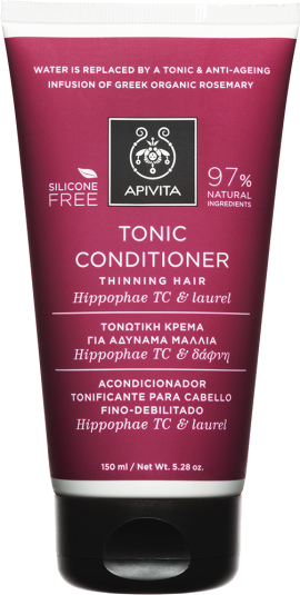 Apivita Tonic Conditioner Thinning Hair Με Hippophae TC & Δάφνη, 150ml