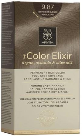 Apivita My Color Elixir 9.87 Ξανθό Πολύ Ανοιχτό Μπεζ Περλέ