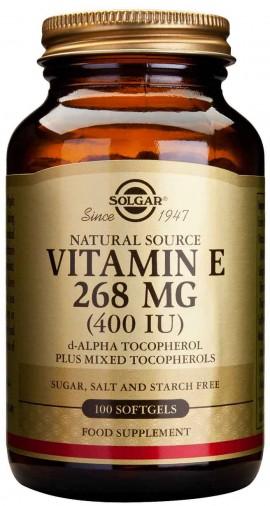 Solgar Vitamin E268mg 400IU, 100 Κάψουλες