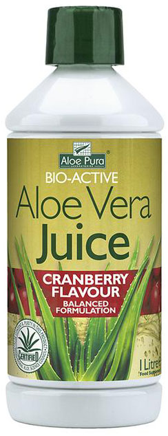Optima Aloe Pura Juice Cranberry, 1000ml