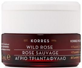 Korres Κρέμα Άγριο Τριαντάφυλλο Κανονικές Μεικτές Επιδερμίδες, 40ml