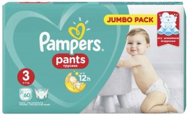 Pampers Pants Jumbo Pack No3 (6- 11 kg), 60 Τεμάχια