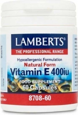 Lamberts Vitamin E 400iu Natural Form, 60 Kάψουλες