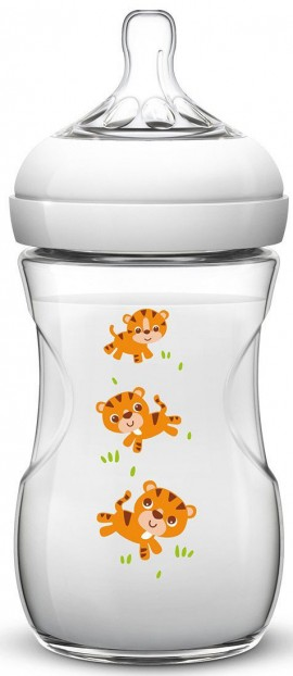 Phillips Avent Natural Πλαστικό Τιγράκι Με Θηλή Αργής Ροής SCF627/20, 260ml