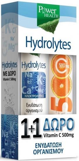 Power Health Hydrolytes, 20 Αναβράζοντα Δισκία + Δώρο Vitamin C 500mg, 20 Αναβράζοντα Δισκία