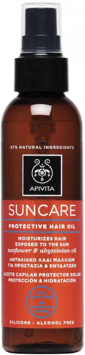 Apivita Suncare Protective Hair Oil Με Λάδι Ηλίανθου & Αβυσσινίας,150ml