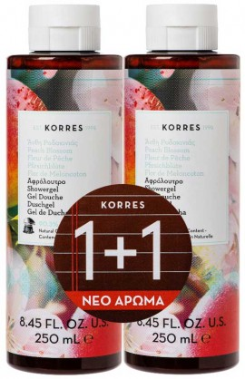 Korres Αφρολουτρο Ανθη Ροδακινιας 2x, 250 ml