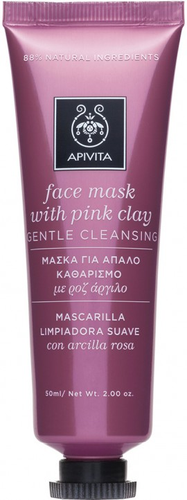 Apivita Μάσκα Προσώπου Με Ροζ Άργιλο, 50ml