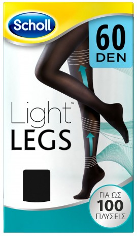 Scholl Light Legs 60 Den XLarge Μαύρο, 1 Τεμάχιο