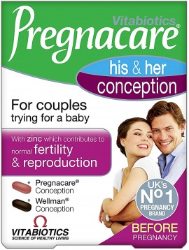 Vitabiotics Pregnacare Him & Her Conception ,30 Ταμπλέτες