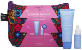 Apivita Set Awesome Blossom Aqua Beelicious Κρέμα Ενυδάτωσης Πλούσιας Υφής 40ml & ΔΩΡΟ Booster Αναζωογόνησης & Ενυδάτωσης 10ml