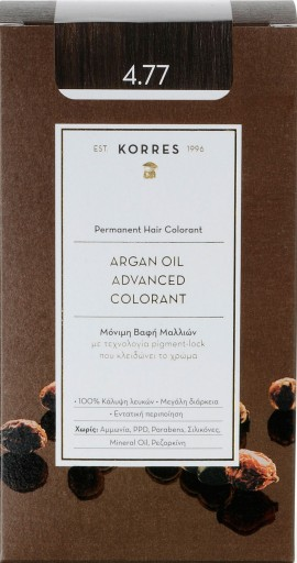Korres  Argan Oil Advanced Colorant 4.77 Σκούρο Σοκολατί, 50ml