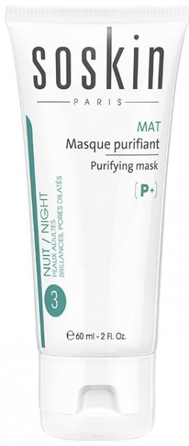 Soskin P+ Mat 3 Night Purifying Mask, 60ml