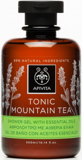 Apivita Tonic Mountain Tea Shower Gel With Essential Oils,300ml