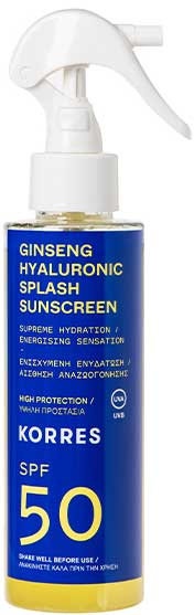 Korres Ginseng Hyaluronic Splash Sunscreen SPF50, 150ml