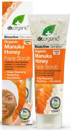 Dr. Organic Manuka Honey Face Scrub, 125ml