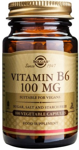 Solgar Vitamin B6 100mg, 100 Κάψουλες