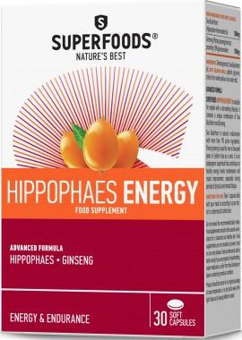 Superfoods Ιπποφαές Energy, 30 Μαλακές Κάψουλες
