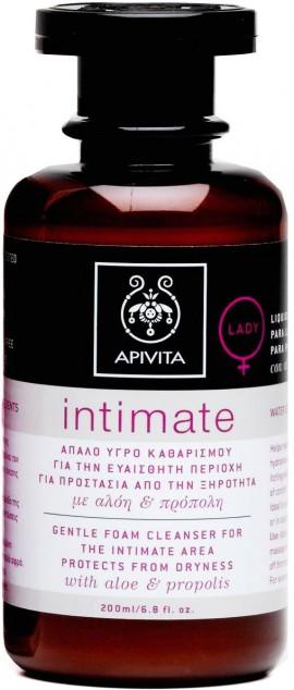 Apivita Intimate Lady Υγρό Καθαρισμού Για Την Ευαίσθητη Περιοχή Με Αλόη & Πρόπολη,200ml