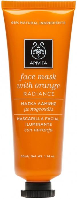 Apivita Μάσκα Προσώπου Με Πορτοκάλι, 50ml