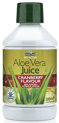 Optima Aloe Pura Juice Cranberry, 500ml