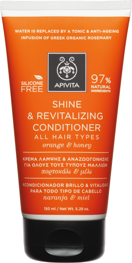Apivita Shine & Revitalizing Conditioner Με Πορτοκάλι & Μέλι,150ml