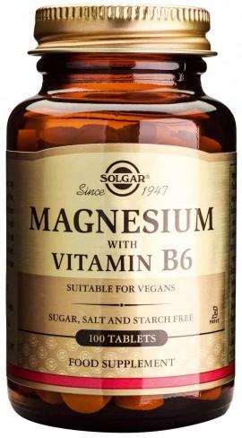Solgar Magnesium +B6, 100 Ταμπλέτες