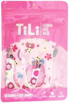 Tili Μάσκες Παιδικές Πολλαπλών Χρήσεων Mε Σχέδια Για Kορίτσι, 2 Τεμάχια
