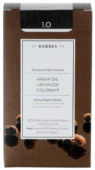 Korres Argan Oil Advanced Colorant 1.0 Μαύρο, 50ml