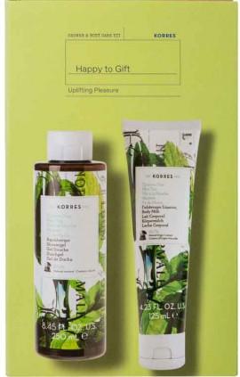 Korres Set Happy To Gift Αφρόλουτρο Πράσινο Tσάϊ 250ml & Γαλάκτωμα Σώματος Πράσινο Tσάϊ 125ml