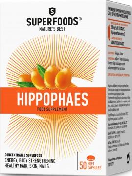 Superfoods Ιπποφαές, 50 Μαλακές Κάψουλες