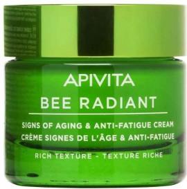 Apivita  Bee Radiant Peony & Propolis Κρέμα Πλούσιας Υφής, 50ml