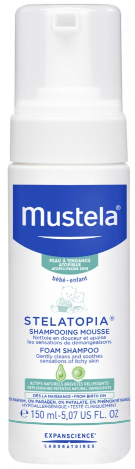 Mustela Stelatopia Foam Shampoo, 150ml