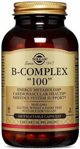 Solgar B- Complex 100, 100 Κάψουλες