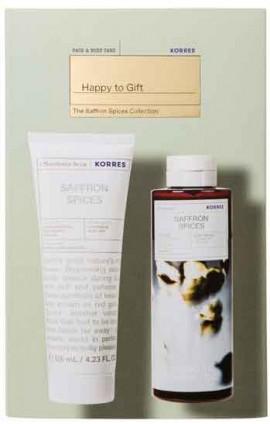 Korres Set Happy To Gift Αφρόλουτρο Saffron Spices 250ml & Γαλάκτωμα για μετά το Ξύρισμα Saffron Spices 125ml
