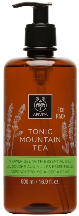 Apivita Tonic Mountain Tea Shower Gel With Essential Oils, 500ml