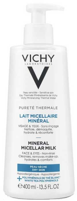 Vichy Purete Thermale Lait Micellaire Mineral Ξηρή Επιδερμίδα, 400ml
