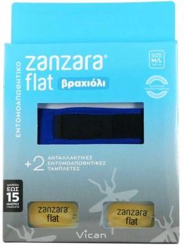 Vican Zanzara Βραχίολι Μπλέ Με Δύο Εντομοαπωθητικές Ταμπλέτες S/M