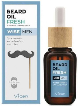 Vican Wise Men Beard Oil Fresh, 30ml