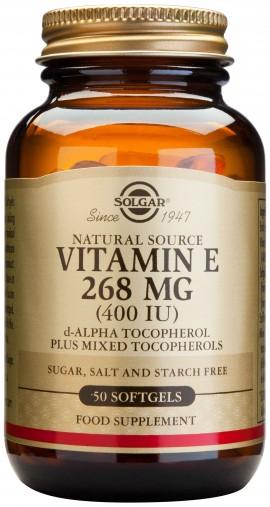 Solgar Vitamin E268mg 400IU, 50 Κάψουλες