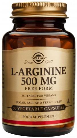 Solgar L- Arginine 500mg, 50 Κάψουλες
