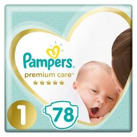 Pampers Premium Care Νο1 (2-5kg), 78 Τεμάχια