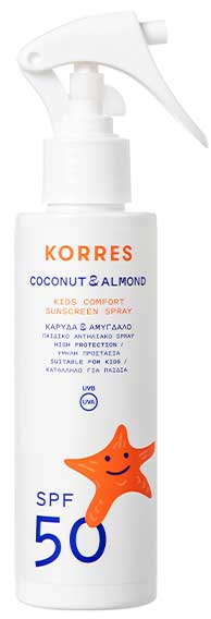 Korres Coconut & Almond Kids Comfort Sunscreen Spray SPF50, 150ml