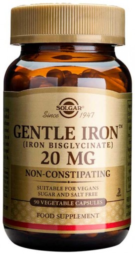 Solgar Gentle Iron 20mg, 90 Κάψουλες